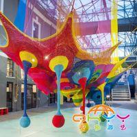 蜂巢网,起航游艺绳网游乐设备,室内儿童乐园彩虹绳网