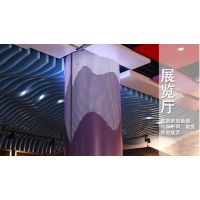 德普龙直供展览厅浅蓝色双曲形铝方通统一指定厂家