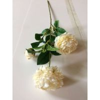 仿真蔷薇花 人造假花 广州外贸出口仿真花 手感蔷薇花 三头蔷薇花