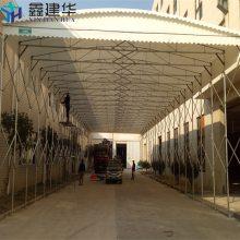 南京栖霞区可移动雨棚布 伸缩推拉帐篷 彩棚 大型雨蓬厂家直销