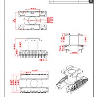 EC39高频变压器骨架 立式18+18针