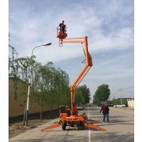12米升降作业平台液压升降机维修路灯监控高空作业升降机到济南泰钢机械