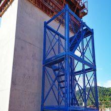 山东高邮安全梯笼A箱式网面梯笼A上下安全通道梯笼通达总厂按需定做