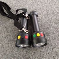 背带式三色手电筒GAD103红白绿黄四色多功能电筒