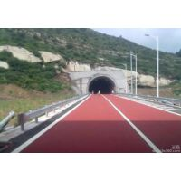芷江侗族自治区彩色道路工程材料 彩色路面喷涂生产厂家