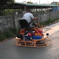 座驾式双盘抹光机混凝土路面提浆机汽油磨平机水泥地面收面机