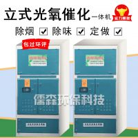 立式光氧催化一体烤漆房废气处理设备工业有机废气处理设备喷淋塔