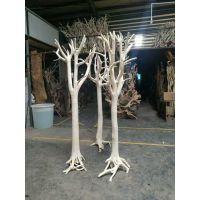 景观树干 漂白枯树干树枝 艺术树干 去皮咖啡厅装饰树干