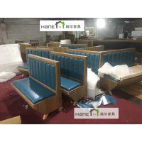 上海餐饮卡座品牌/工程复古沙发订做/餐饮沙发厂家/上海韩尔