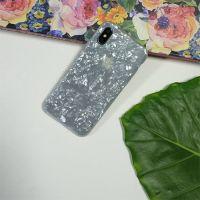 贝壳贝母iphoneX手机壳 软壳tpu苹果手机水转印定制加工