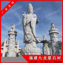 古建石雕佛像雕刻 大型石材千手观音 汉白玉观音价格