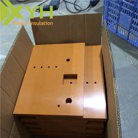 雄毅华橘红色A级电木板加工 任意零切雕刻绝缘板材料 酚醛树脂板加工定制