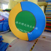海兴博达儿童体适能训练海绵正负极圆饼垫幼儿园体能测试教具圆环垫半圆环