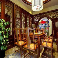 厂家直销中式仿古花格浮雕图案 定制实木中式花格门窗横框