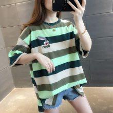 韩版女装棉t新款百搭女装T恤低价厂家尾货一手货源批发
