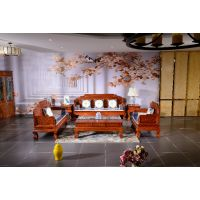 仿古沙发销售-客厅红木家具价格-如金红木古典沙发
