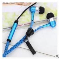 夜光拉链耳机入耳式带麦克风MP3耳机重低音线控通用手机金属耳机