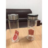 青岛城阳李沧四方广告杯水晶杯,双层玻璃杯内侧印字联系电话13176882585