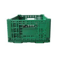 标准果蔬周转筐食品级生鲜配送折叠筐高强度塑料筐全新PP正基ZJKN604022W折叠筐