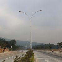 8米路灯杆厂家 雅浩灯杆价格 照明工业灯具配附件