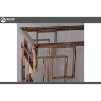 鑫名佳利201不锈钢架子专家 镜面玫瑰金/装饰架子架子装饰批发