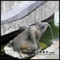 石雕青石吐水青蛙喷泉流水池喷水动物摆件