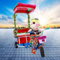 新款电瓶动物拉车小洋人蹬三轮车儿童电动三轮车