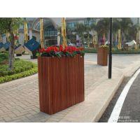 厂家定制直销户外碳化防腐木花箱 道路组合落地式花槽