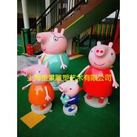 吉安小猪佩奇雕塑 猪小妹卡通动物系列雕塑