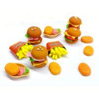 日本银鸟Gincho大米彩泥汉堡包套装儿童益智玩具进口玩具批发全国包邮