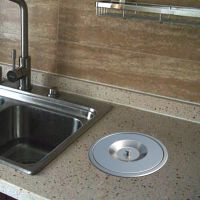 304不锈钢厨房台面嵌入式垃圾桶橱柜拉丝工艺室内收纳隐藏清洁桶