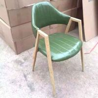 众美德家具厂家定做实木椅子咖啡椅休闲欧式靠背椅
