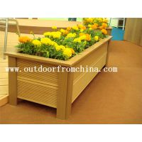 供应江苏木质植物种植箱 实木景观花箱 移动组合花架