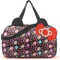 卡通kitty旅行袋大蝴蝶结防水大挎包旅行包女行李袋一件代发