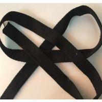 热销1CM牛仔原亚麻色间黑色跳点织带 鱼骨纹织带 麻纱底+PP线跳点织带厂家批发