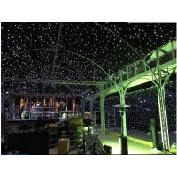 厂家直销 全白灯 LED星空幕布 天鹅绒背景发光幕布 婚庆舞台演出背景 直播星空背景布