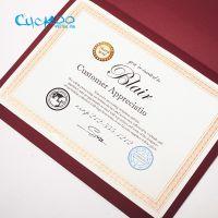 布谷鸟创意奖状烫金培训聘书制作资格认证结业授权荣誉证书纸定制