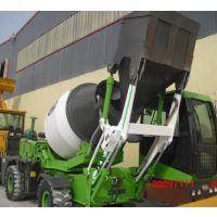 临沧1.2方小型自供料混凝土搅拌车 山区道路施工用移动式搅拌机