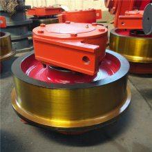 315从动锻件轮组 电机驱动轮 亚重 轨道单边车轮组