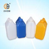 供应HDPE塑料桶 6L公斤扁罐 6kg塑料化工桶 包装桶