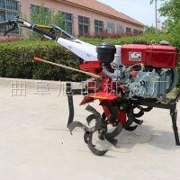 厂家直销176四驱开沟型微耕机茶园除草起垄机大棚松土机