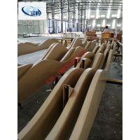 优质 氟碳热转印木纹型材方管 弧形铝方管