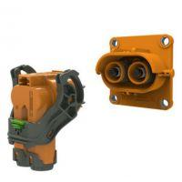 晨风绿能2芯8mm塑胶高压连接器弯头