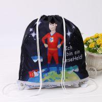 创意彩色束口牛津布袋涤纶束口袋定制抽绳运动背包收纳袋热转印