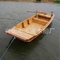 玉海木船YH-YC-011 农用小渔船 加舱板木船 手划捕鱼木质三仓实用渔船 便捷小船