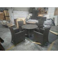 户外藤椅大排档编藤桌椅现代藤椅纯手工桌椅花园椅子藤椅三五件套