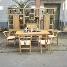 白蜡木茶桌椅组合实木功夫茶台免漆烧水柜休闲茶几现代中式家具