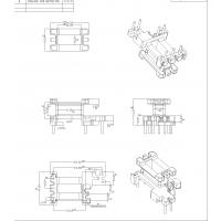 EE16骨架 直插 立式3+2+2 高频变压器配件