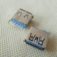 USB3.0母座 180度弯脚 卷边/直边 立式插板式 带弹 铁壳 铜壳