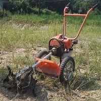 手扶式除草松土机 葡萄园果园锄地锄草机 小型旋耕松土机
